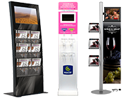 Totem video porte-brochures/flyers