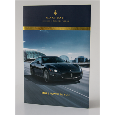 Imprimé Video® Maserati version gold/silver